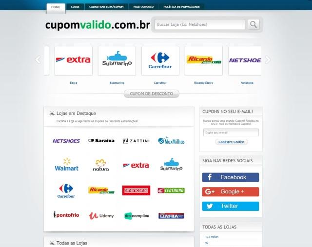 cupom valido - home
